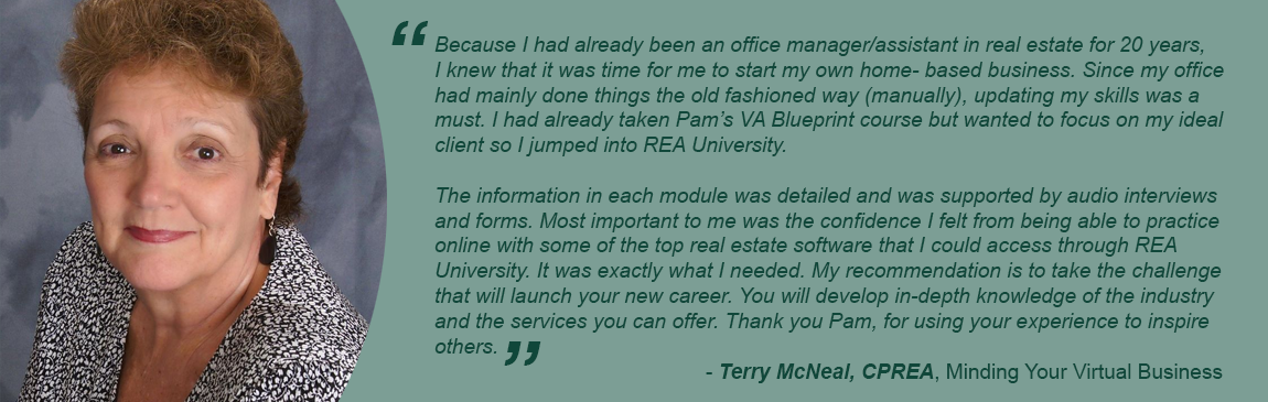 Testimonial from Terry McNeal
